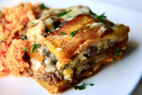 Food and Drink Latin Inspired Thanksgiving Recipe 5 Pasteloacuten de Plaacutetanos