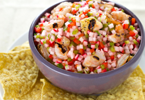 Food and Drink Latin Inspired Thanksgiving Recipe 3- Shrimp Ceviche