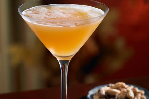 Food and Drink Caramel Apple Cider Cocktail
