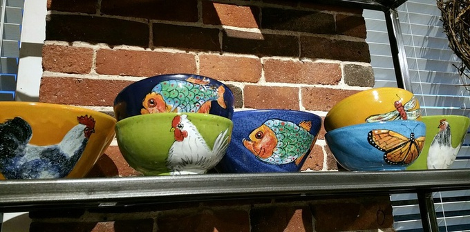 Beautiful and durable hand painted and glazed ceramics from Colombia